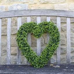Boxwood Hanging Heart