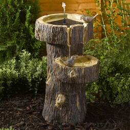 Tree Trunk Bird Bath
