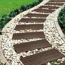 EcoFriendly Stepping Stone Rail Road Sleepers  Pack of 8