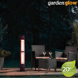 Garden Glow 3000W Freestanding Patio Heater  Black