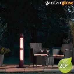 Garden Glow 3000W Freestanding Patio Heater  Black