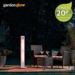 Garden Glow 3000W Freestanding Patio Heater  Grey