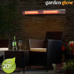 Garden Glow 3000W Wall Mounted Patio Heater with Remote Control