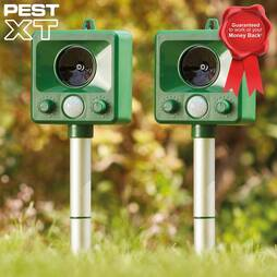 Pest XT Ultrasonic Battery Powered Cat Repeller  Twin Pack