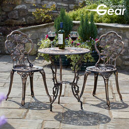 Garden Gear Provence Rose Metal Bistro Set
