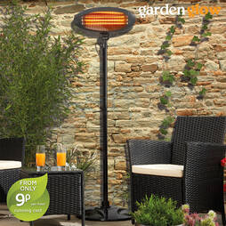 Patio Heater and Cover  Black