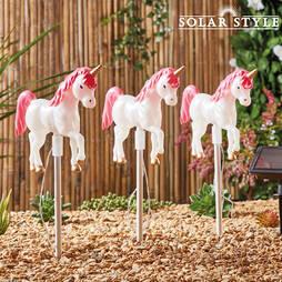 Solar Style Set of 3 Unicorn Lights