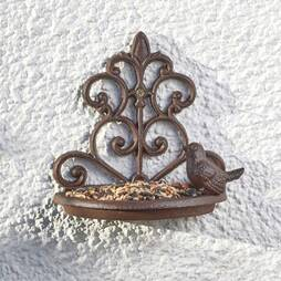 Nature?s Market Cast Iron Wall Mounted Bird Feeder