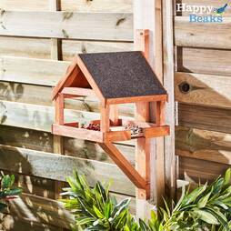 Wall Mounted Wooden Bird Table