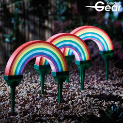 Garden Gear Set of 3 Solar Rainbow Lights