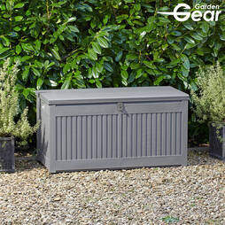 Garden Storage with Sit on Lid  Grey