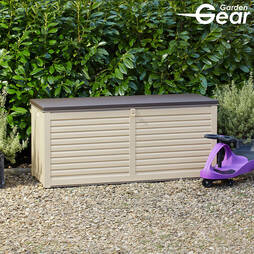 Garden Gear 490Litre Lockable Garden Storage with Sit on Lid