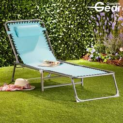 Garden Gear Sun Lounger  Black