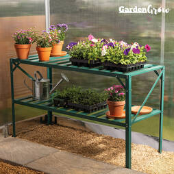 Garden Grow TwoTier Slatted Staging