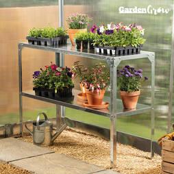 Garden Grow TwoTier Galvanised Staging