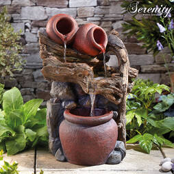 Serenity Tipping Pots Tree Trunk Water Feature