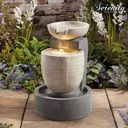 Serenity Cement Bowl Tower Water feature