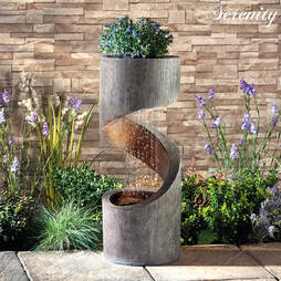 Serenity Spiral Rainfall Water Feature with Planter