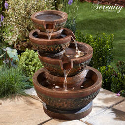 Serenity FourTier Aged Bowls Water Feature