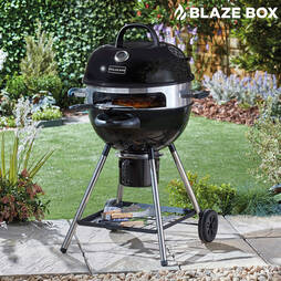 Blazebox 21inch Kettle Barbeque with Pizza Ring, Stone and Paddle  With Cover