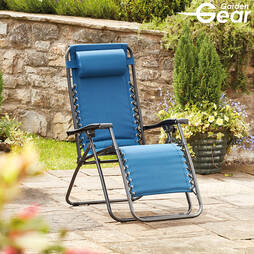 Padded Zero Gravity Chair  Teal