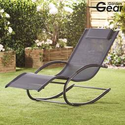 Garden Gear Premium Zero Gravity Rocking Lounger  Grey