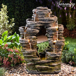 Serenity DoubleSided Rock Cascade Water Feature