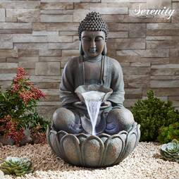 Serenity Bronze Sitting Buddha Water Feature
