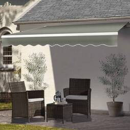 Easy Fit Garden Awning 400 x 300cm Light Grey