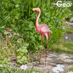 Garden Gear Metal Flamingo Garden Ornament