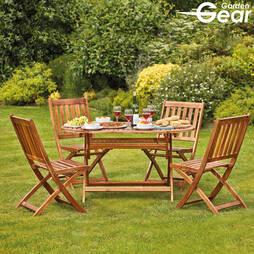 Garden Gear Acacia 4Seater Dining Set