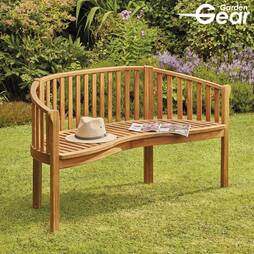 Garden Gear Acacia 3Person Banana Bench