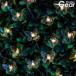 Garden Gear Solar Butterfly String Lights Multi