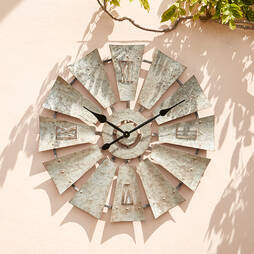 Wyegate Windmill Style Garden Clock ? 76cm