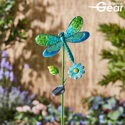 Glass Dragonfly Solar Light