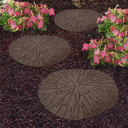 Reversible EcoFriendly Cracked Log Stepping Stones