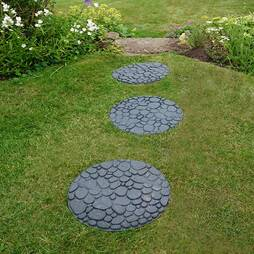 Reversible EcoFriendly River Rock Stepping Stones  Single Unit