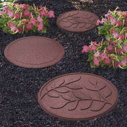 Reversible EcoFriendly Stepping Stone Terracotta Leaves  Single Unit