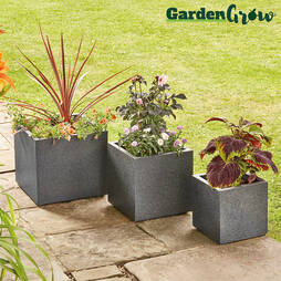 3Pack of Granito Cube Planters