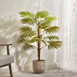 Artificial Fan Palm Plant