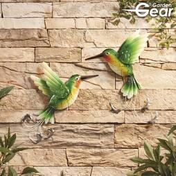 Garden Gear Set of 2 Metal Hummingbirds Wall Art