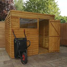 8 x 6 Waltons Overlap Pent Wooden Shed