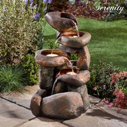 Serenity Tumbling Rocks Water Feature