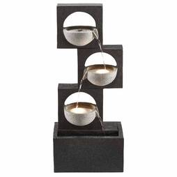 Serenity Modern GraniteEffect Cascading Bowls Water Feature