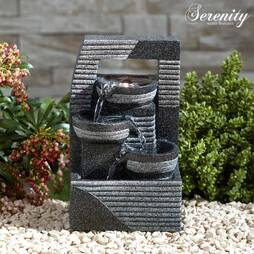 Serenity TableTop Cascading Bowl Tower Water Feature