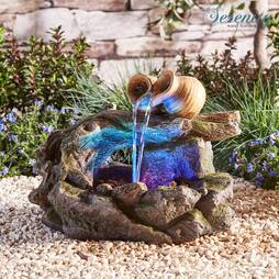 Serenity TableTop Woodland Pouring Pots Water Feature
