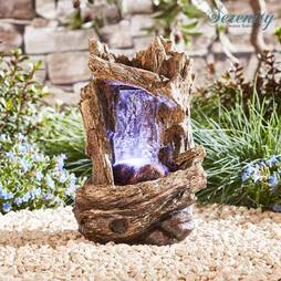 Serenity Tabletop Tree Trunk Waterfall Water Feature
