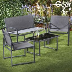 FourPiece Textoline Garden Set  With Cover