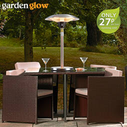 Garden Glow 2100W Table Top Patio Heater