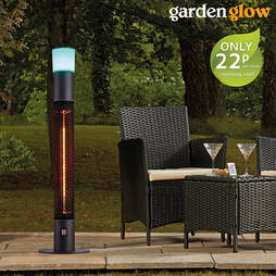 ELECTRIC FREESTANDING PATIO HEATER W/LED